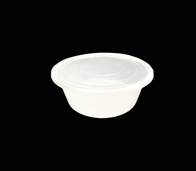 White Round Microwavable Bento Box