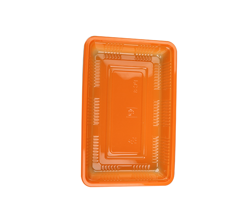 Material and development of disposable plastic fast food lunch box