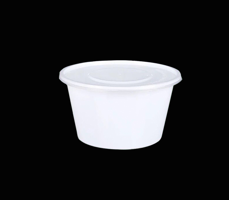 White Plain Bento Box With Lid